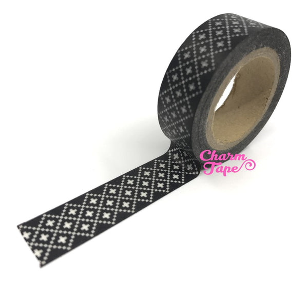 Washi Tape - White Cross Stitch Design WT191