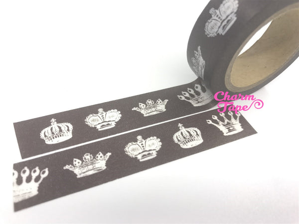Royal Crowns Washi Tape 15mm x 11yards WT166 - CharmTape - 1