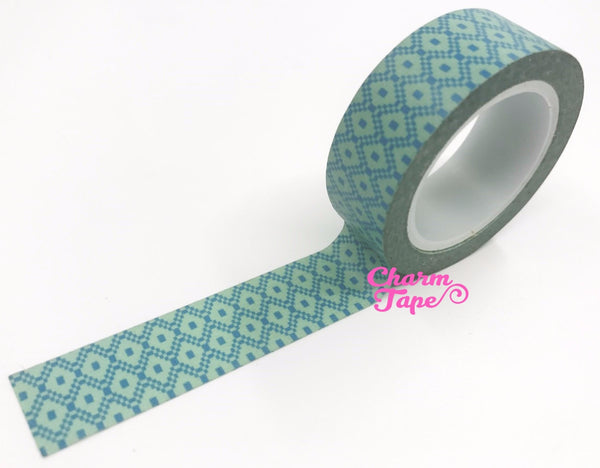 Aqua diamond Washi Tape 15mm x 10m WT347 - CharmTape - 1