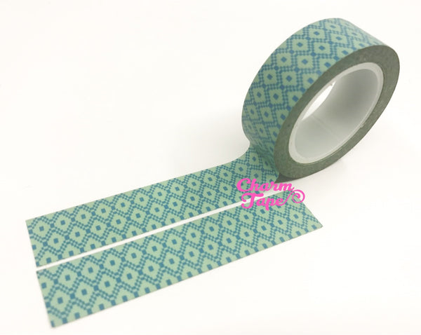 Aqua diamond Washi Tape 15mm x 10m WT347 - CharmTape - 2