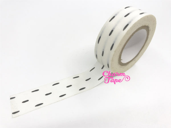 Black lines Washi Tape 15mm x 10 meters wt1018 - CharmTape - 2