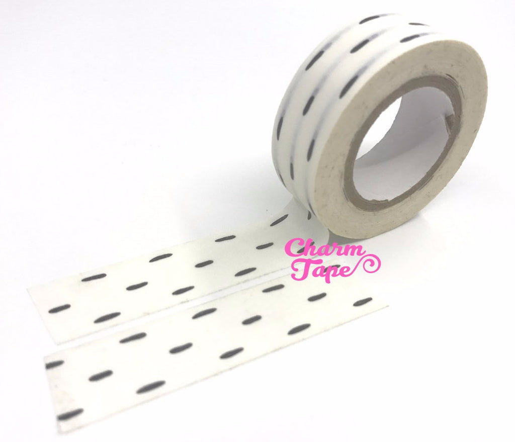 Black lines Washi Tape 15mm x 10 meters wt1018 - CharmTape - 1