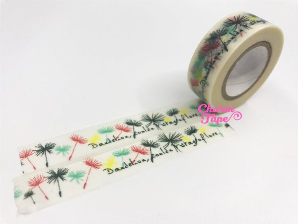 Washi tape Dandelion Flowers - 15mm Wide 10 meters WT1020 - CharmTape - 3