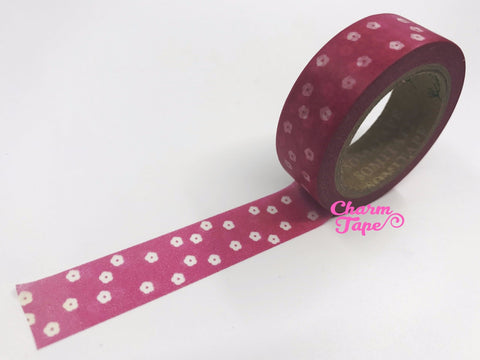 Washi tape - Mini translucent Flowers - 15mm Wide - 10meters  WT734