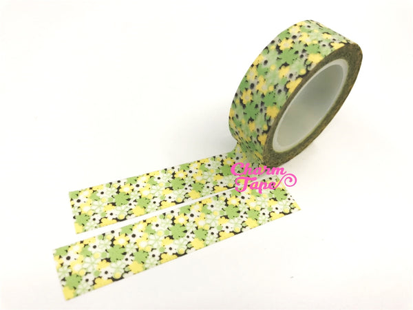Floral Washi Tape Adhesive 15mm x 10m WT36 - CharmTape - 2
