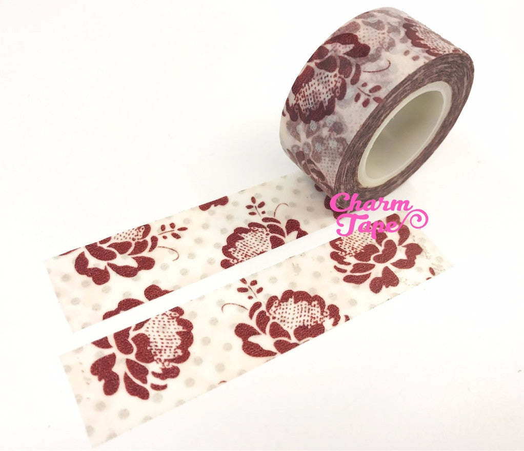 Roses Washi Tape (20mm x 10m) WT571 - CharmTape - 1