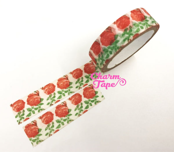 Washi tape - Red roses & Leaf 2 Rolls WT465 - CharmTape - 3