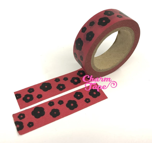 Flowers Washi Masking Tape 15mm WT5 - CharmTape - 6