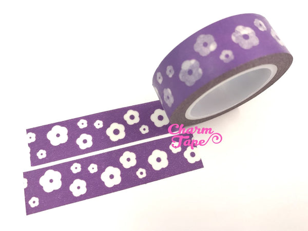 Flowers Washi Masking Tape 15mm WT5 - CharmTape - 11