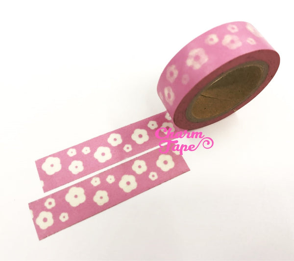 Flowers Washi Masking Tape 15mm WT5 - CharmTape - 13
