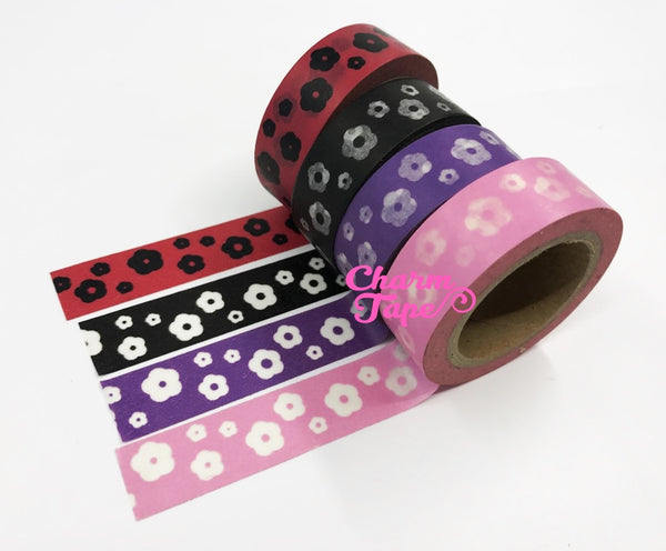 Flowers Washi Masking Tape 15mm WT5 - CharmTape - 4