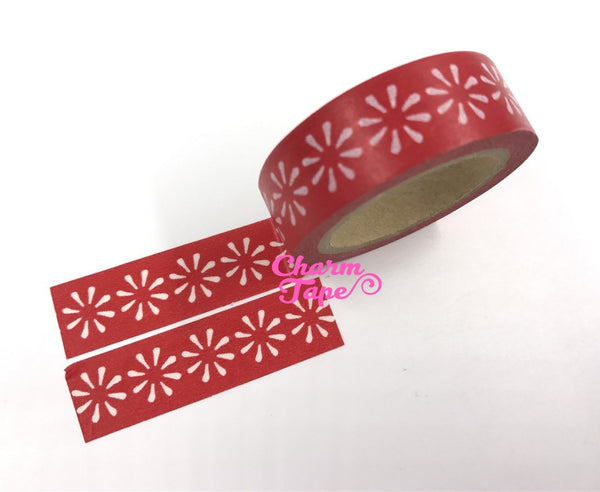 Simple Flower Washi Tape 15mm x 10m Translucent floral WT1079