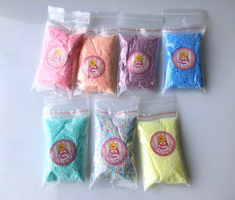 7 Packs Pastel Colors 10000 CHEAP Styrofoam Balls 2mm 3mm Polystyrene Filler Foam Ball Bead Slime Floam