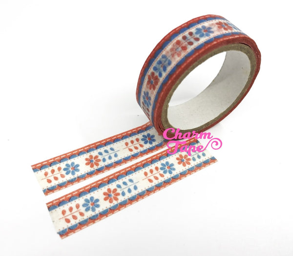 Hungarian embroidery Flower Washi Tape 2 rolls WT659 - CharmTape - 2