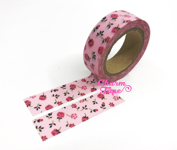 Pink Roses - Washi Tape 15mm x 10 meters WT829 - CharmTape - 2