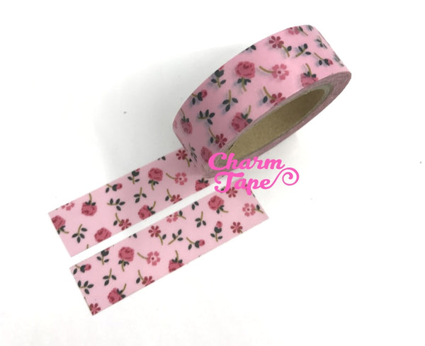 Pink Roses - Washi Tape 15mm x 10 meters WT829 - CharmTape - 3