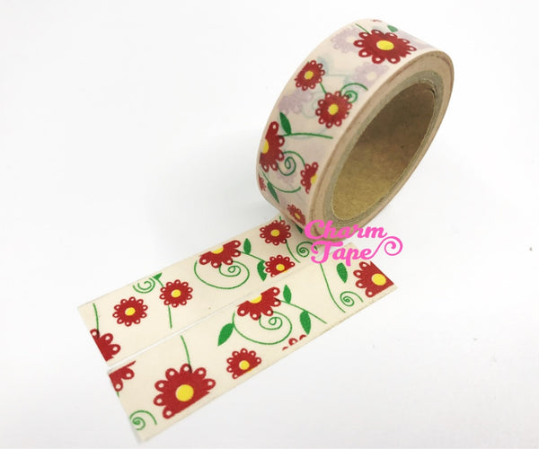 Daisy Flower Washi Tape 15mm x 10m WT202 - CharmTape - 4