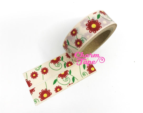 Daisy Flower Washi Tape 15mm x 10m WT202 - CharmTape - 5