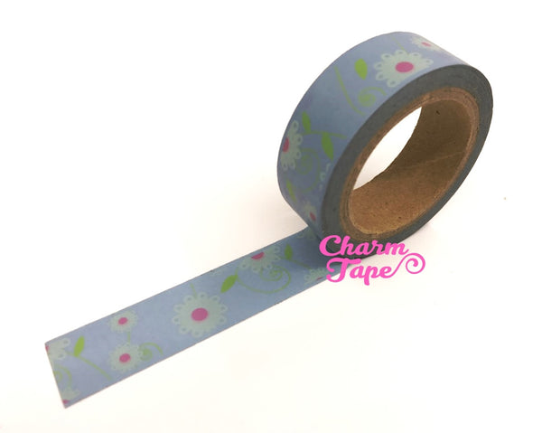 Daisy Flower Washi Tape 15mm x 10m WT202 - CharmTape - 8