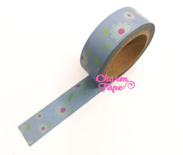 Daisy Flower Washi Tape 15mm x 10m WT202 - CharmTape - 9