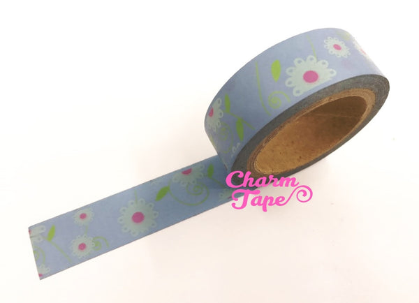 Daisy Flower Washi Tape 15mm x 10m WT202 - CharmTape - 10