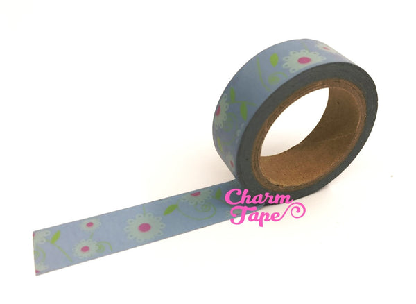 Daisy Flower Washi Tape 15mm x 10m WT202 - CharmTape - 11