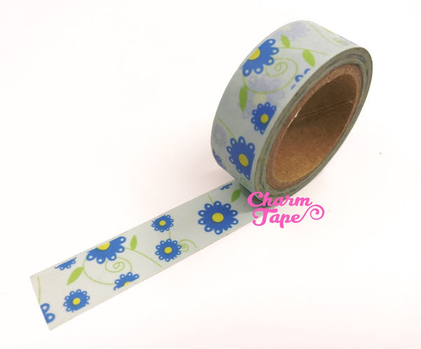 Daisy Flower Washi Tape 15mm x 10m WT202 - CharmTape - 12