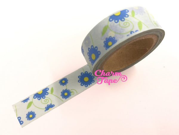 Daisy Flower Washi Tape 15mm x 10m WT202 - CharmTape - 13