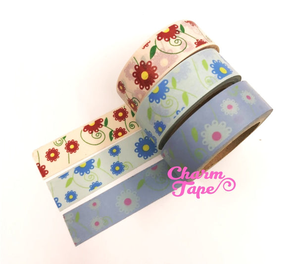 Daisy Flower Washi Tape 15mm x 10m WT202 - CharmTape - 2