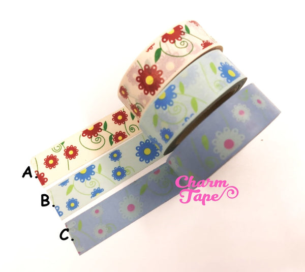 Daisy Flower Washi Tape 15mm x 10m WT202 - CharmTape - 3