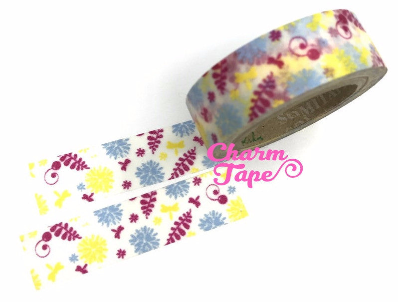 Ferns & Floral Washi Tape 15mm x 10m WT135