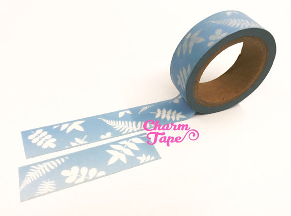 Washi tape - Fern & Leaf - 15mm x 10 meters WT708 - CharmTape - 4
