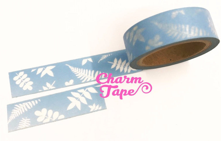 Washi tape - Fern & Leaf - 15mm x 10 meters WT708 - CharmTape - 1