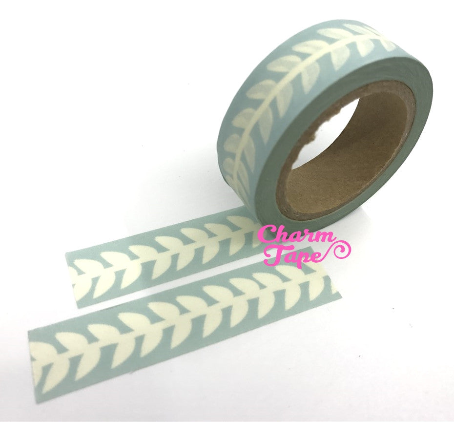 Pale Leaf - Japanese Washi Masking Tape 15mm WT968 - CharmTape - 1