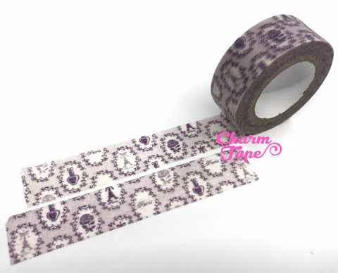Lavender Washi Tape Full Roll - Eiffel Tower 15mm x 8m WT598