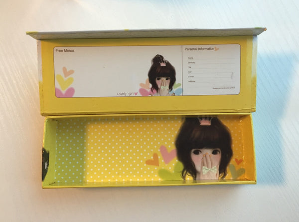 Lovely Girl - pencil pen case from Pinkfoot Korea - CharmTape - 2