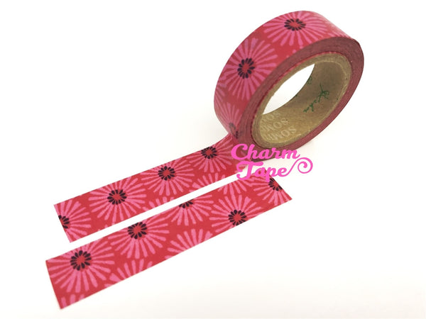 Daisy Flower Washi Tape 15mm x 10 meters WT1076