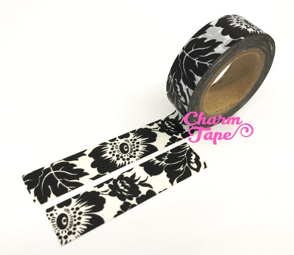 Black Orchid Washi Tape 15mm x 10m WT45 - CharmTape - 2