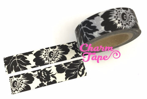 Black Orchid Washi Tape 15mm x 10m WT45 - CharmTape - 1