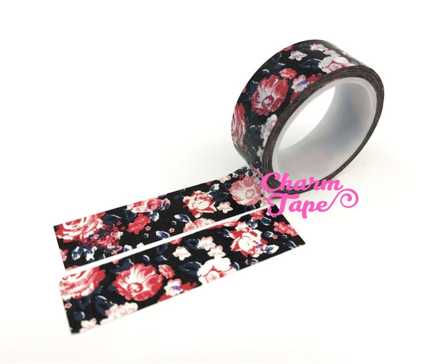 Shabby chic Floral Washi Tape Roll 15mm * 5m WT291 (2 Rolls) - CharmTape - 2
