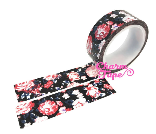 Shabby chic Floral Washi Tape Roll 15mm * 5m WT291 (2 Rolls) - CharmTape - 3