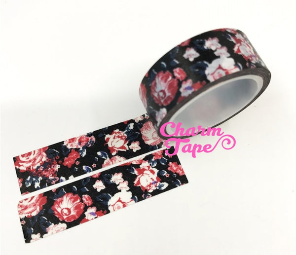 Shabby chic Floral Washi Tape Roll 15mm * 5m WT291 (2 Rolls) - CharmTape - 5