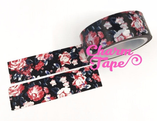 Shabby chic Floral Washi Tape Roll 15mm * 5m WT291 (2 Rolls) - CharmTape - 1