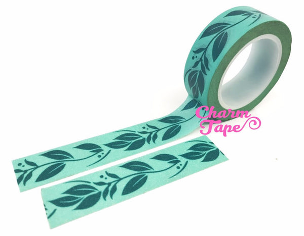Green leaves vine Washi Tape 15mm x 10 meters WT35