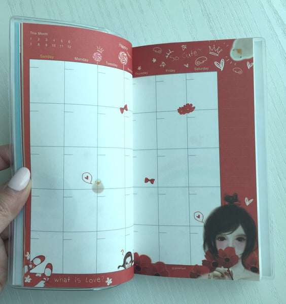 Pinkfoot So Happy Daily Planner Scheduler from Korea - CharmTape - 3