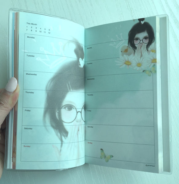 Stay with me Daily Planner Scheduler from Pinkfoot Korea - CharmTape - 4