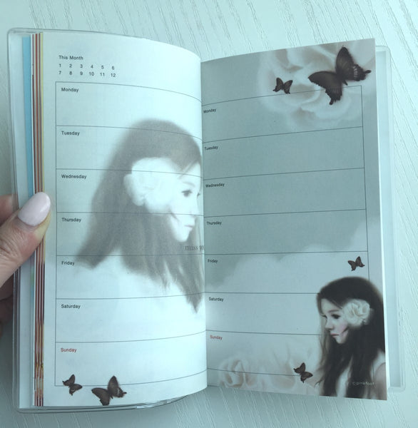 Pinkfoot Lovely Girl Daily Planner Scheduler from Korea - CharmTape - 5
