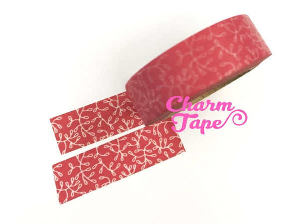 Vines on Pink Washi Paper Tape 15mm x 10m WT106 - CharmTape - 4