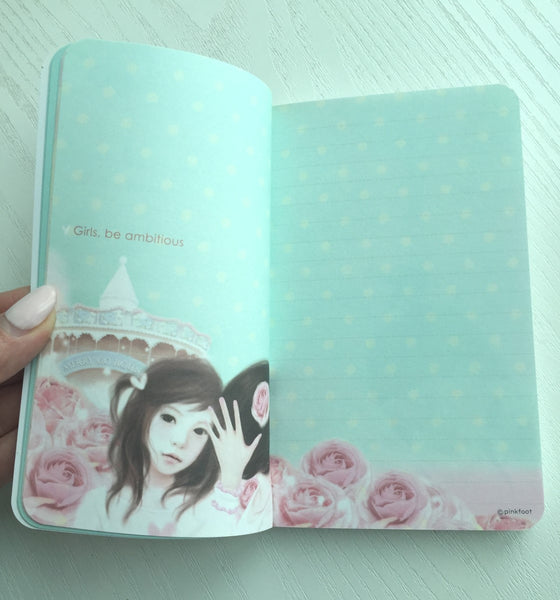Pretty Girl Memo Note Book from Pinkfoot Korea - CharmTape - 2