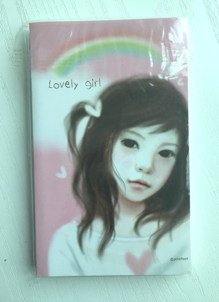 Pretty Girl Memo Note Book from Pinkfoot Korea - CharmTape - 1